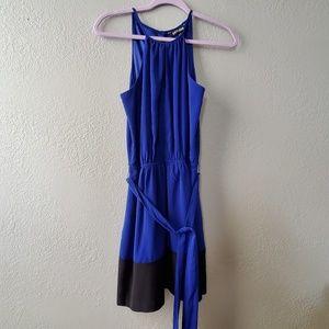 Express Cobalt Blue and Black sleevesless dress